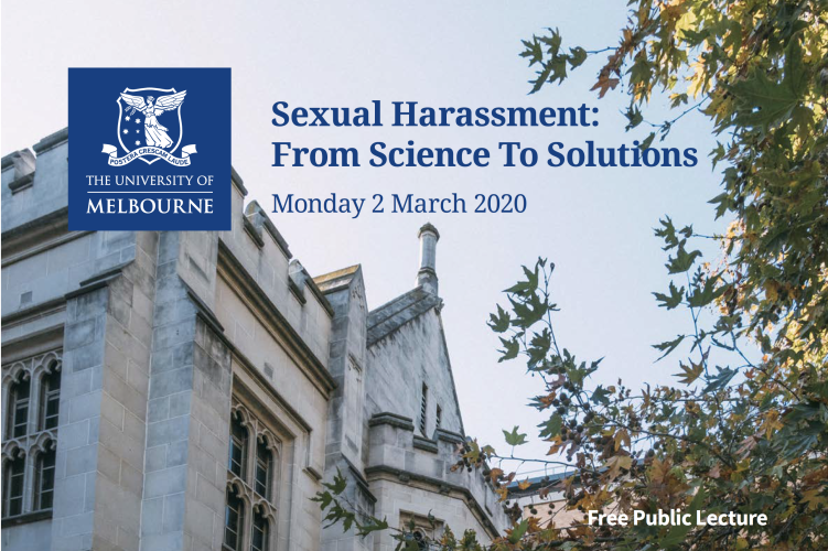 Sexual Harassment: From Science to Solutions