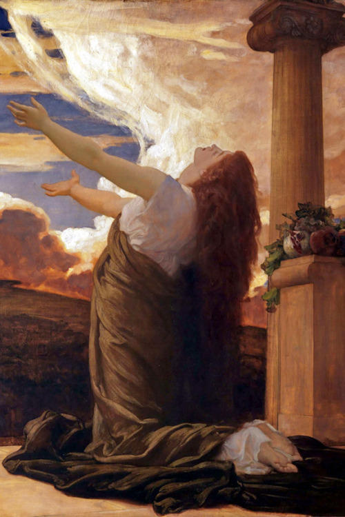 Clytie, waiting and watching for Helios. Painting by Frederic Leighton (1830-1896), Leighton House Museum.