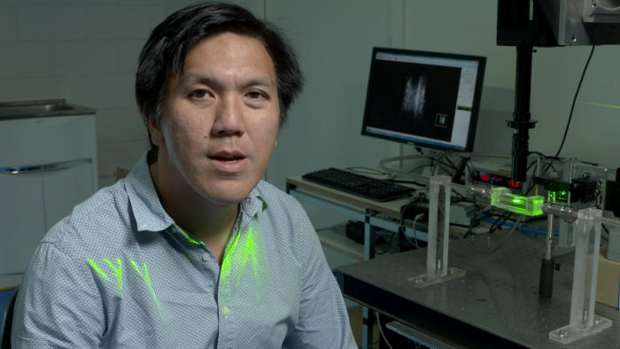 Mechanical engineer Professor Andrew Ooi's team is using computer modelling to understand how 3D printed heart stents will affect blood flow in the artery. Picture: Paul Burston.