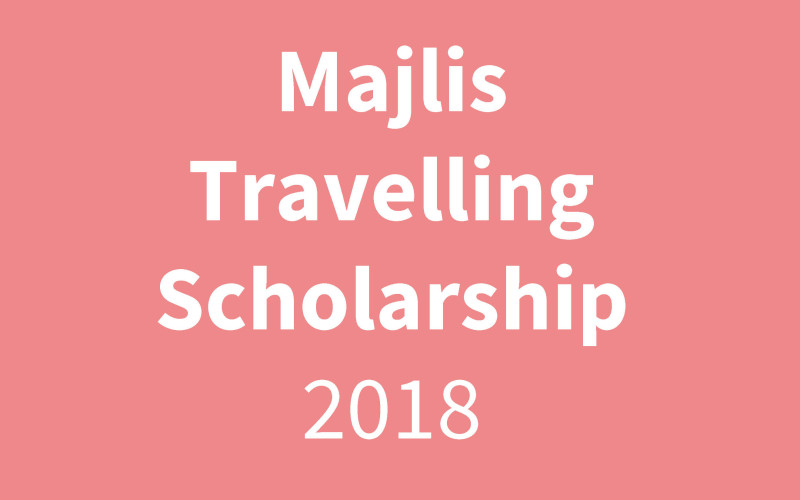 Majlis Travelling Scholarship Finalists