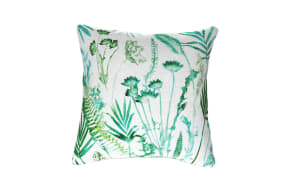 Botanical Teal Cushion