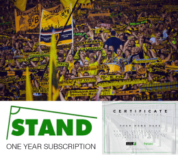 MEGA DEAL: Certificate + Subscription to STAND Magazine + Chance to win 2 Tickets to Borussia Dortmund