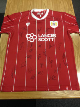 CHANCE TO WIN: Bristol City 2017/18 shirt signed by first team