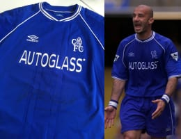 CHANCE TO WIN: Signed Gianluca Vialli Chelsea shirt