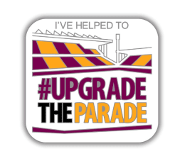 OFFICIAL #UPGRADETHEPARADE ENAMEL PIN BADGE + CERTIFICATE