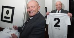 Framed Vintage Fulham F.C. jersey signed by George Cohen