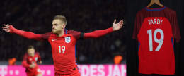 CHANCE TO WIN: Donated by the PFA, a signed Jamie Vardy England shirt!