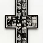 Ellen Cantor, Crossroads, 1995, photo collage, cross-shaped frame, 63 1/2 x 38 in., unique, EC_FP3565
