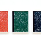 Michael Bell-Smith, Composition Books: Red, Green, Blue, 2009, digital inkjet print, series of 3, each 19 x 14.5 in.