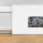 Petra Cortright, AziLabs b Barclay b c license plate azwan, 2017, digital painting on anodized aluminum, 48 x 94 in. (121.92 x 238.76 cm.)