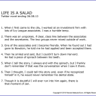 #135 LIFE IS A SALAD