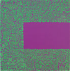 Fluorescent Green Line on Violet