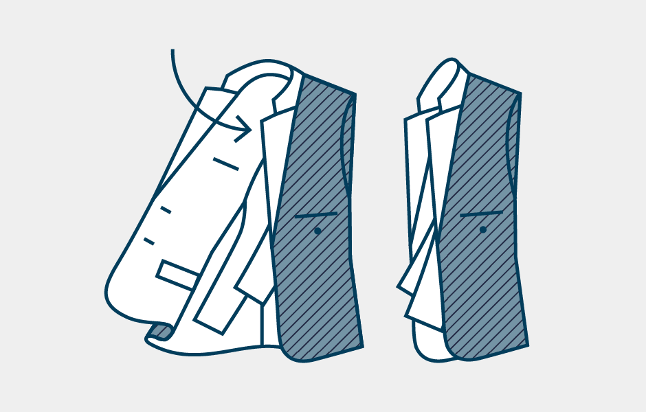 How to Pack a Suit Step 3