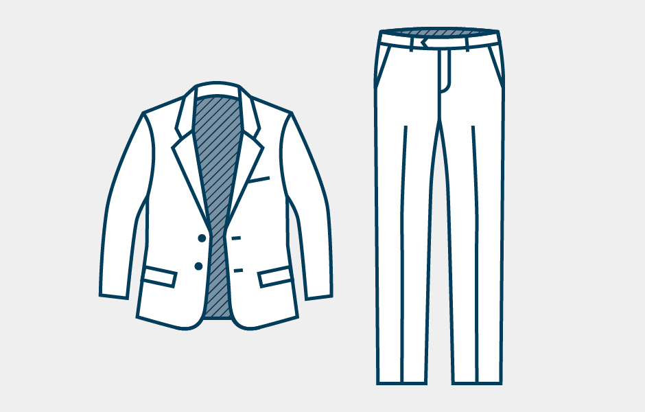 How to Pack a Suit Step 1