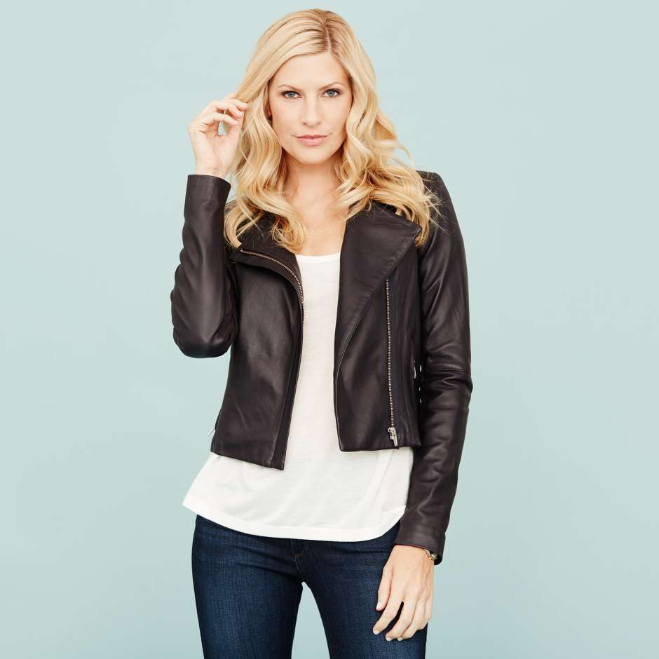Women's clothing essentials leather jacket