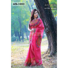 Tangail Cotton Saree Block Print design by ARA