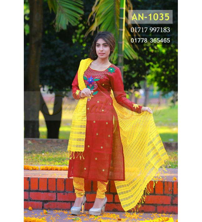 Tant Half-Silk Hand Loom Dress