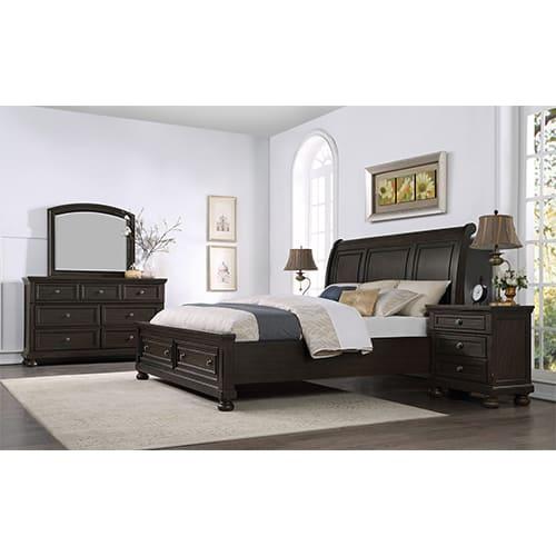 Spencer Bedroom 3PC Set - King Bed, Dresser, Mirror - SPENCER3PCKG