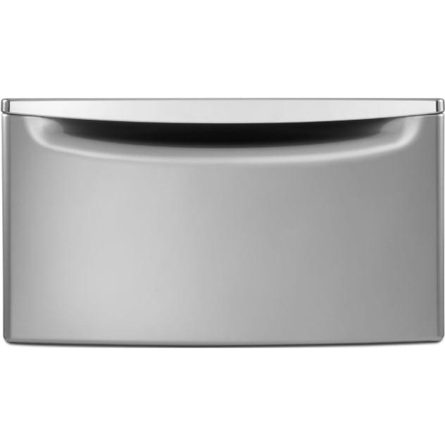 """Whirlpool® 15.5"""" Laundry Pedestal with Storage Drawer - Chrome Shadow - XHPC155YC"""