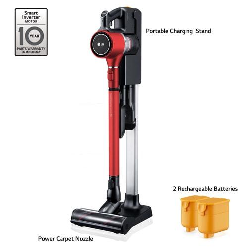 LG A9 CordZero™ Stick Vacuum - Charge (MATTE RED)