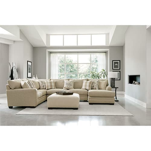 Shabby Chic Sectional Right Facing Chaise