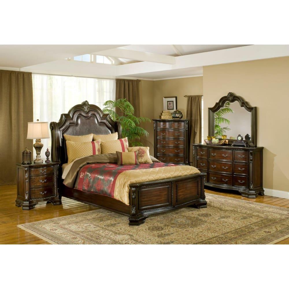 Alexandria Bedroom - Bed, Dresser & Mirror - Queen (B1100)