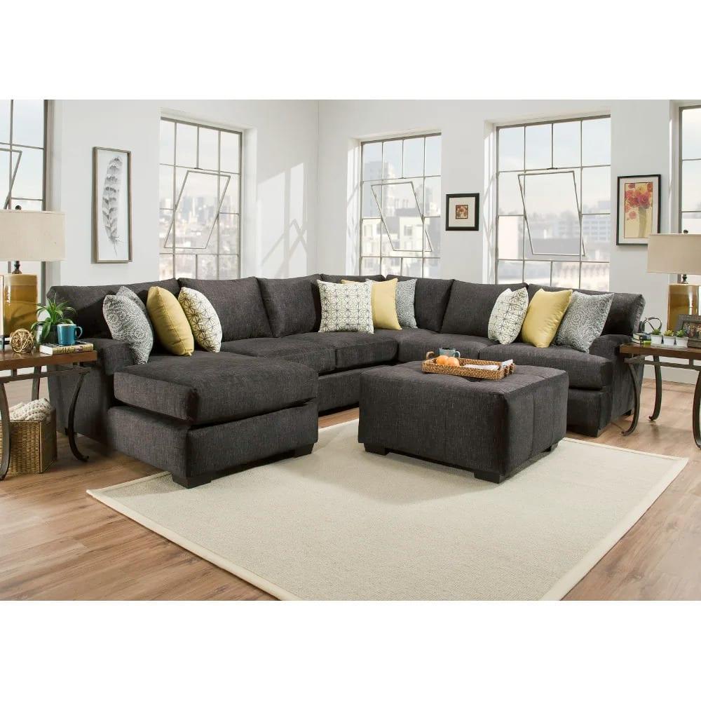 Boulevard Sectional - RSF Corner Sofa, Armless Loveseat, & LSF Chaise - BLVDLSF3PCSEC