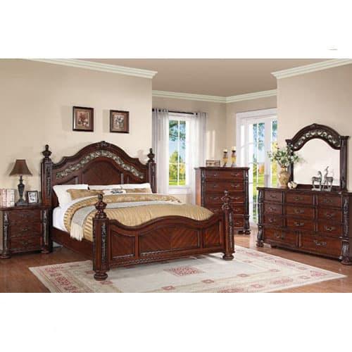 Charleston Bedroom - Bed, Dresser & Mirror - King (55865)