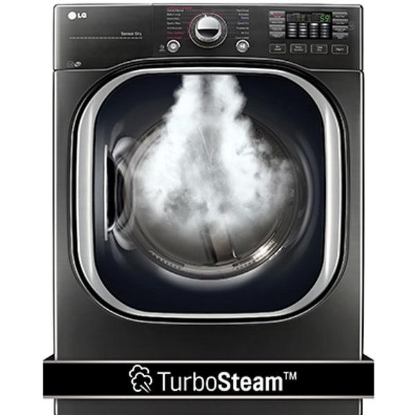 LG 7.4 Cu. Ft. Ultra Large Capacity TurboSteam™ Gas Dryer (DLGX4371K)