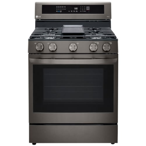 LG 5.8 cu ft. Smart Wi-Fi Enabled True Convection InstaView™ Gas Range with Air Fry - LRGL5825D