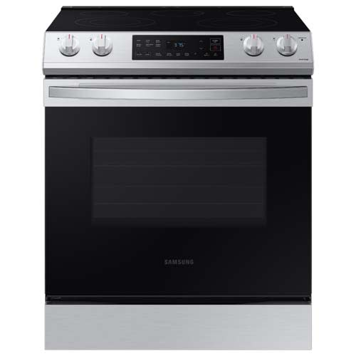 Samsung 6.3 cu ft. Front Control Slide-in Electric Range with Wi-Fi