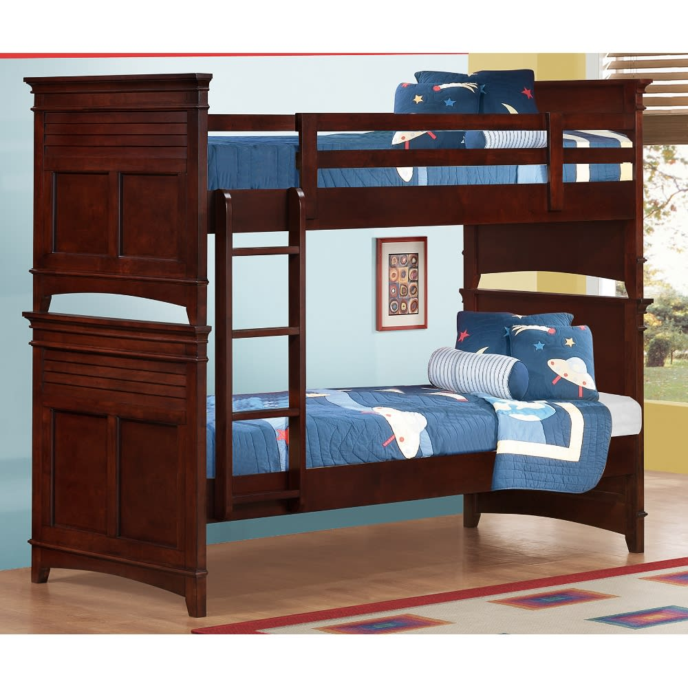 Skylar Twin Over Twin Bunk Bed - Cherry - 25077