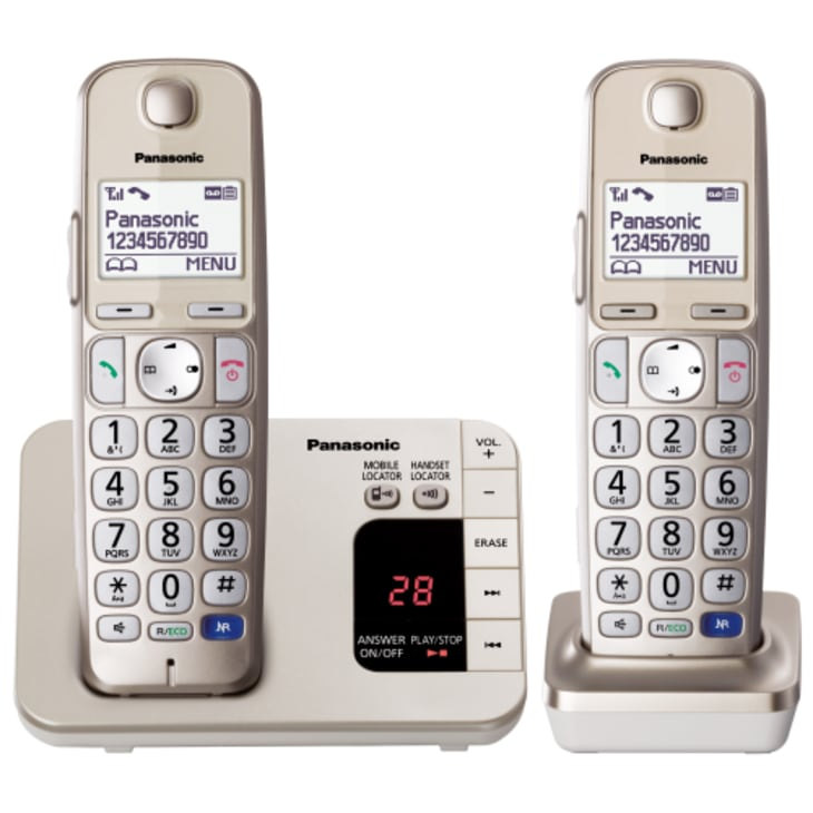Panasonic Large Button Cordless Phone Twin Pack