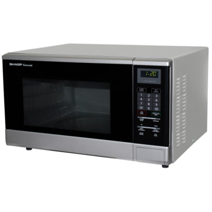 Sharp Mid Size Silver Microwave Oven