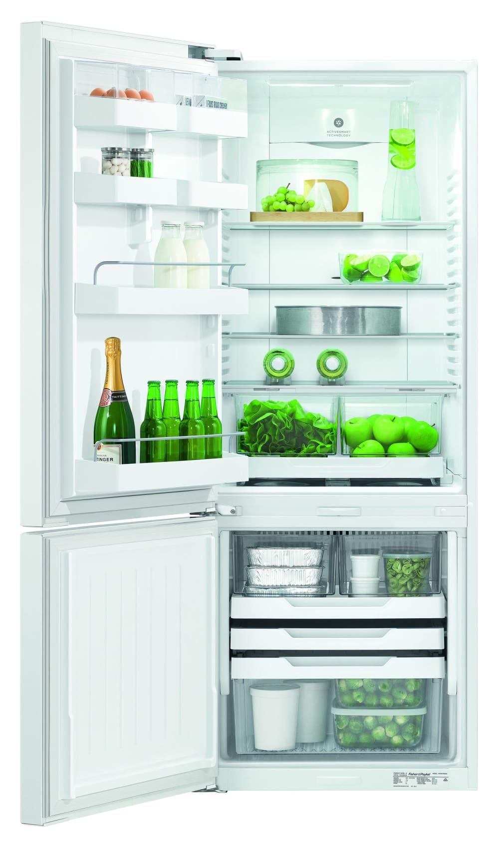 Fisher Amp Paykel 403l White Bottom Mount Refrigerator