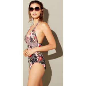 Mantaray Print Multi Swimsuit Floral 'wahine' Halterneck dxCeBo