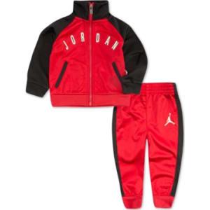 finest selection 29a7d 59e40 Jordan Little Boys 2-Pc. Tricot Colorblocked Jacket   Pants Set from ...