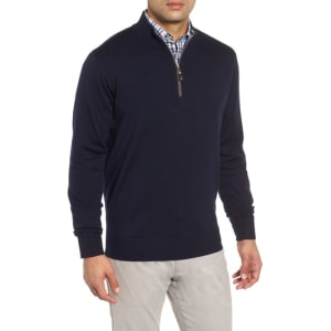 34c0a0d22 Men s Peter Millar Crown Soft Wool Blend Quarter Zip Sweater