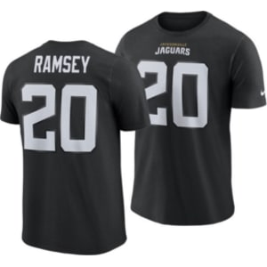 new arrival e0745 1478e Nike Men's Jalen Ramsey Jacksonville Jaguars Pride Name and Number Wordmark  T-Shirt