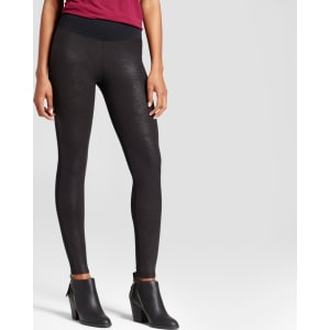 19777696e2120 Women's Assets by Spanx Faux Leather Front Legging - Black M from ...