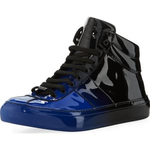 488d52bdf3e Belgravia Men s Degrade Patent Leather High-Top Sneaker from Neiman ...
