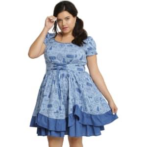 Disney Beauty And The Beast Ruffle Dress Plus Size
