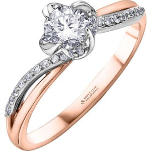 6b886c56081ab Maple Leaf Diamonds Wind s Embrace 18ct Rose Gold Diamond Ring from ...