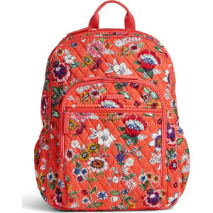 67006027c556 Vera Bradley Campus Tech Backpack in Coral Floral from Vera Bradley.