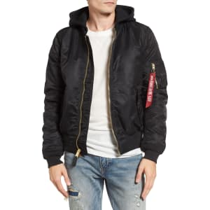 bf1b310d4be2e Men s Alpha Industries Ma-1 Natus Hooded Bomber Jacket