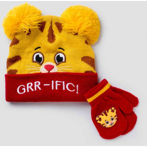 752e28da3fc886 Toddler Boys' Daniel Tiger Hat and Mitten Set - Red/Gray One Size ...
