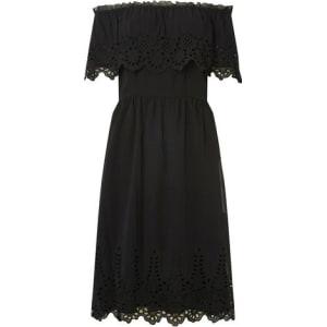 d36aff1a8e815 Womens Black Cutout Bardot Midi Skater Dress from Dorothy Perkins.