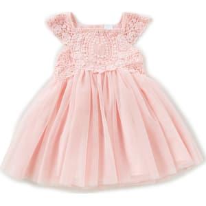 00482195927 Edgehill Collection Little Girls 2T-6X Crochet Cap-Sleeve Dress from ...