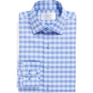 b2209b15587c Men's Lorenzo Uomo Trim Fit Check Dress Shirt, Size 16 - 34/35 ...