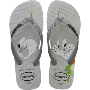 1eebff01eb598e Havaianas Looney Tunes Bugs Bunny Flip Flops Ice Grey - Mens from ...